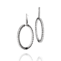 Earrings white gold and white diamond